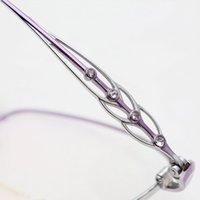 69% Off Rhinestones Metal Temizle Gözlük Çerçeve Şeffaf Saf Titanyum Moda Buzlu Vintage Gözlük Erkekler ve Kadınlar N7M7