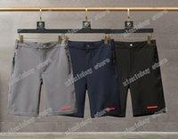 21SS MENS Designer Playa Pantalones cortos Triángulo Etiqueta Hombres Pantalón Doble letras Casual letras pantalones negro