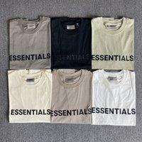T-shirts pour hommes Peur de Dieu Essentials T-shirt à manches courtes en silicone à trois dimensions
