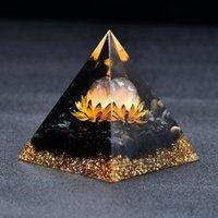 2.36 'Orgon Piramidi Çakra Temizle Kuvars Küre Obsidiyen Baz Şifa Lotus