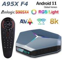 Amlogic S905X4 Android TV Box 4 GB 32 GB z G30S Voice Zdalne sterowanie 8K RGB Light A95X F4 Smart Android11.0 Tvbox Plex Media Server 2.4g 5G Dual WiFi Bluetooth 2g 16g