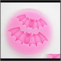 Moulds Halloween Decoration Type Mold Lovely Bat Shape Epoxy Resin Sile Material Mould Cake Biscuit Kitchen Baking Molds 1Lt L2 Vatfy Xwj1Y