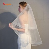 Bridal Veils Short Wedding Veil With Comb 2 Layers Pure Tulle Vintage Hair Accessories Velo Novia V19