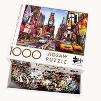 بانوراما الألغاز 1000 أجزاء لغز لعبة تجميع خشبي للبالغين لعبة أطفال ألعاب تعليمية