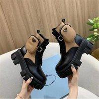 Kadın Tasarımcılar Rois Çizmeler Ayak Bileği Martin Boot Cep Siyah Botlar Naylon Askeri Ayakkabı Çanta ile İlham Boots Botları Boyutu 35-45