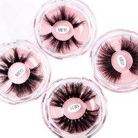Super Long 25mm 3D 5D Mink Reelashes Драматические Реальные густые волосы ресницы ручной работы составляют ложные ресницы глаз макияж Maquiagem