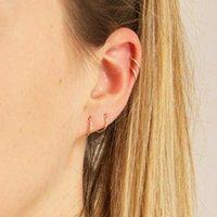 Hoop & Huggie 925 Sterling Silver Earrings For Women Men Small Hoops Ear Bone Simple Tiny Nose Rings Girls Huggies Fine Jewelry 8 10 12mm