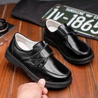Flat Shoes British Style Children's Boys Formal Patent Leather Loafers Kids Dress Wedding School Baby Boy Infant Sneakes