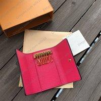 Key Brieftaschen M62650 Mini Pouch Hohe Qualität Frauen Klassische 6 Schlüssel Halter Cover Keychain Männer mit Box.Dust Bag Kartenring 7 Farben Größe: 12x7cm Original Box LB03
