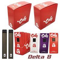 Delta 8 Cake Disposable Vape Pen 420 E Cigarette Kit With 280mAh Battery One Gram 1.0ml Thick Oil Pod Cartridge Rechargeable