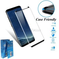 Case Friendly Tempered Glass 3D Curved No Pop up Screen Protector for Samsung Galaxy Note 20 ultra 10 9 8 S7 edge S8 S9 S10 S20 S21 Plus With Retail Box
