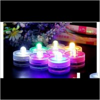 Candles Décor Home & Gardenunderwater Flickering Flameless Electronic Lamp Led Waterproof Candle Light Colorful Battery Operated Wedding Dec