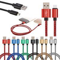 USB C Schnellladekabel 2A Nylon geflochten 3 6 9ft langes Ladegerät Cord mit Samsung Huawei für iPhone kompatibel