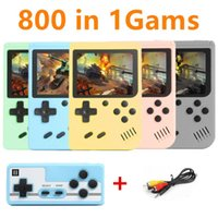 Game Controllers & Joysticks 800 In 1 Games MINI Portable Retro Video Console Handheld Players Boy 8 Bit 3.0 Inch Color LCD Screen GameBoy