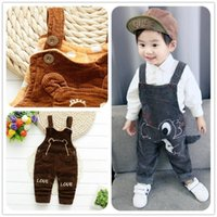 Winter Thicken Cartoon Corduroy Kid Baby Girls Clothes Trousers Jumpsuit Playsuit Toddler Infant Pants Denim Jeans Overalls