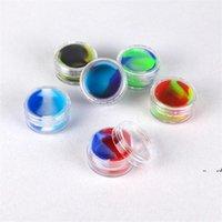 NewVaporizer-Öl-Antihaft-Silikonbehälter Clear 3ML-Kunststoff-DAB-Wachs-Speicher-Jar-Bruchglas-Wasser-Rohre Acryl-Silizium-Gläser EWD7467