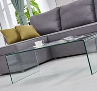 Glass Coffee Table Living Room Simple Modern Rectangular Tea Net Red Light luxury Small Tempered Transparent