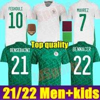 Jersey Algerie Jersey Argélia 2021 2022 Algériie Home Away Mahrez Feghouli Bennacer Atal 21 22 Footbhershirt Men + Kit Kits Conjuntos Maillot de pé