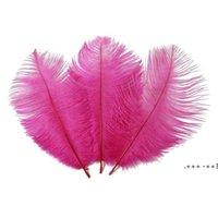 Красочные 20-22 дюйма 50-55 см страус перьев перья для свадебного центра свадебные вечеринки декор событий праздничное украшение FWE9761