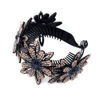 Trend Летний Горный Хрусталь Зажим для волос Держатели BUN Красочный Когг Bud Для Женщин Мода Расширяющаяся Художник Элегантные Зажимы Acrddk Barnettes