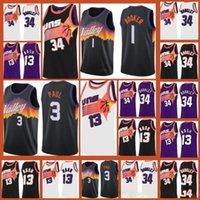 "Phoenix ""Sonnen"" Jersey Devin 1 Booker Deandre 22 Ayton Chris 3 Paul Steve 13 Nash Basketball Trikots 01"