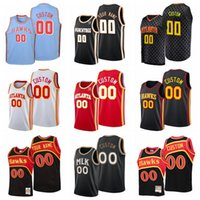 8 Smith 20 Collins Basketball Jersey Dikembe 55 Mutombo Trae 11 Young #00 Custom Name And Number Stitched Mens 2021-22 Edition City Jerseys S-6XL