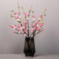 Decorative Flowers & Wreaths 70cm Artificial Plum Flower Tree Branch Silk For Wedding Home Decoration Cherry Blossoms Fake