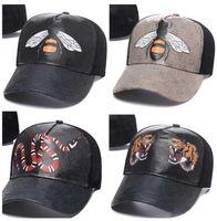 2021 diseñador para hombre gorras de béisbol béisbol mujer marca tigre cabeza sombreros abeja serpiente bordado hueso hombres mujeres casquette sol gorras deportes malla camionero gorra de camionero