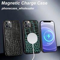 Cajas de teléfono magnético de cuero genuino de alto grado hecho a mano para iPhone 12 Pro Max Case 12min 070645