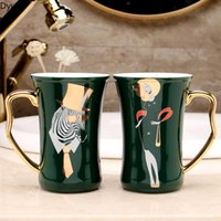 Mugs Bathroom Accessories Simple Decal Ceramic Tooth Brushing Cup Household Couple Mouthwash Toiletries Pair