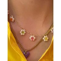 Pendant Necklaces Exquisite Vintage Purple Peach Heart Shape For Women Girlfriend Gift Trendy Cute Flower Charms Choker Jewelry