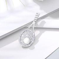 Zircon Creative High Quality Tennis Pearl Rack Pin Sweater Shawl Coat Scarf Jewelry Simple Casual Wild Brooch