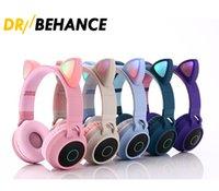 귀여운 고양이 귀 무선 이어폰 B39 블루투스 헤드폰 BT 5.0 헤드셋 스테레오 음악 게임 유선 이어 버드 스피커 헤드폰