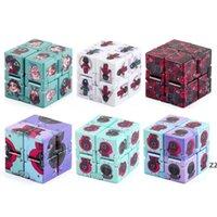 Fidget Togets Halloween Squid juego Imprimir ilimitado Vent Cube anti estrés Spinner colorido rotativo rompecabezas ejercicios el regalo cerebral HWA9317