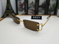 2021 Occhiali da sole di lusso senza montatura delicata delicata delicata delicata delicata delicata Decorazione degli occhiali di alta qualità UV400 Occhiali da vista 16 Colore