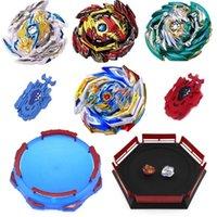 뜨거운 스타일 beyblades 버스트 장난감 발사기와 상자 블레이드 금속 융합 신의 블레이드 어린이 장난감 Y200703