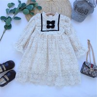 Girl's Dresses Girls Lace Children Clothing Summer Princess Elegant Wedding Party Kids Embroidery Baby Bowknot Vestido Robe Fille 1-8 Y