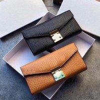 2021 diseñadores de marca Carteras Tarjetas Unisex Monedas Mujer Polazado de cuero Titular de Tarjetas Largas Business Hardware Accesorios con caja
