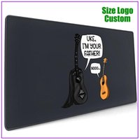 Mouse Pads & Wrist Rests Uke I Am Your Father Funny Guitar And Ukulele Pun Joke Black Alfombrilla Escritorio Personalized Custom Support Ext