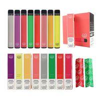 Puff Plus Bar Одноразовый Vape Cigarettes 800 + Картридж слоеного картриджа 650 мАч Батарея 3.5 мл Prefuld Pods Stick Стиль ECIG Портативный испаритель