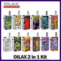 100 % 정통 oilax 시트 프로 스타터 키트 VV 배터리 vape 펜 기화기 2 두꺼운 오일 왁스에 대 한 1에 전자 담배 400mAh 예열