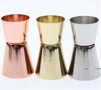 15 30Ml Stainless Steel Cocktail Shaker Measure Cup Dual Shot Drink Spirit Measure Jigger Wine Pourer Bartender Bar Kitchen Tool EWE9496