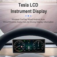 Car DVD Stereo Multimedia Player For Tesla T3 2018 2019 2020 Auto Radio Tape Recorder LCD Dashboard Head Unit Screen Monitor 4K TV