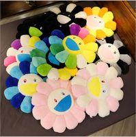 Almofadas de pelúcia de girassol de alta qualidade, flores coloridas, bonecas macias, tapetes de chão infantil, jogos de bebê, decoração de casa presentes para namoradas