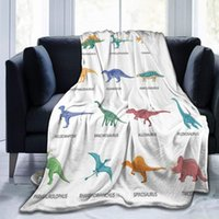 Dinosaurs Colored Isolated Icons Set Flannel Fleece Throw Blanket Living Room Bedroom Sofa Couch Warm Soft Bed Blanket for Kids