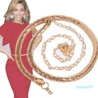 fashion Belts Women's Lady Fashion Snake Bones Metal Chain Style Belt Body Luxury Ornamental Accessories High Quality