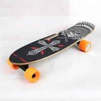 [Instock da UE] HT-S1 Smart Skateboard 4 rodas Longboard elétrico Scooter 300W 2 duplo motor 24v 4.4ah com 2,4g controle remoto digital