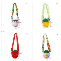 Fidget Toys Messenger Bag Push Sensory Bubble Strawberry Pineapple Crossbody Bags Cactus Avocado Stress Relief Press Squeeze CCF11169