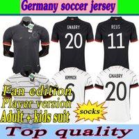 2020 2021 Германия Футбол Джерси Вернер-де-Жагадор Treenamento Werner Reus Kimmich Kimimich Kroos Gnabry Havertz Homens Mulheres Kits Kits Calças de Futebol 4XL