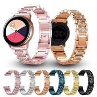 Watch Bands Women Diamond Bracelet For Samsung Galaxy Watch3 45mm Band Active 2 Strap Quick Release Metal Belt 20mm 22mm